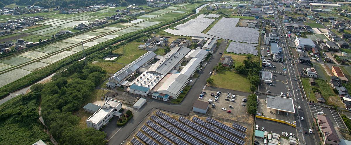 丹後織物工業組合 上空写真