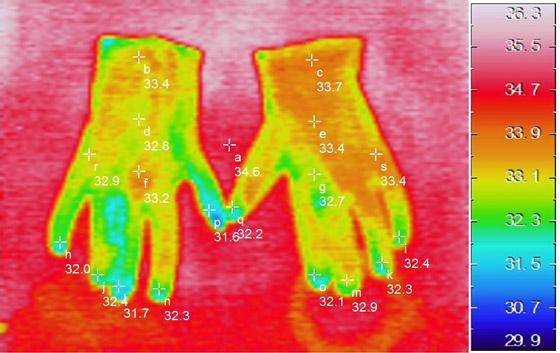 温感加工 サーモグラフィ画像
